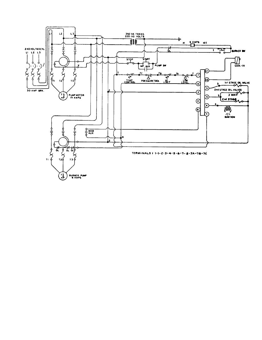 Hot Oil Heater Wiring Diagram  Volt